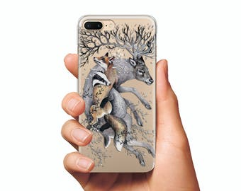 Animals clear case Cases for iPhone and Samsung Cases for iPhone 6s case  Cases for 7 case  Cases for 6 Plus case  Cases for 7 Plus case
