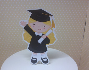 Boy or Girl Graduation Party Cake Topper Decoration