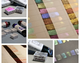 Specialty Colors (Iridescent, Interference, Shimmer and Duochrome) - Hand-Poured Half Pans of Fine A