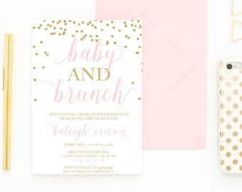 Baby Shower Invitation, Baby Shower Brunch, Baby Shower Brunch Invitation, Brunch, Baby and Brunch, Baby Shower Invitations, Baby [478]