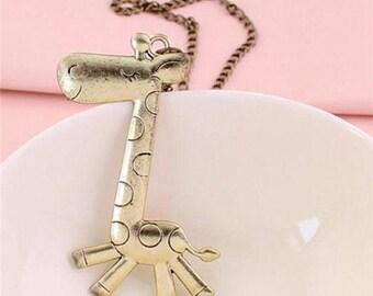 Silver & Brass Giraffe Necklaces