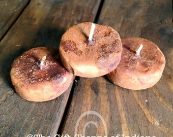 Primitive Tealight Candles, Grubby Candles, Grungy Candles, Tea Light