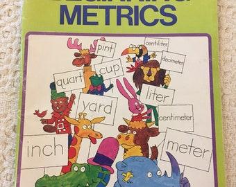 Math Workbook, Vintage Math Book, Vintage School Books, Old School Book, Childrens Book