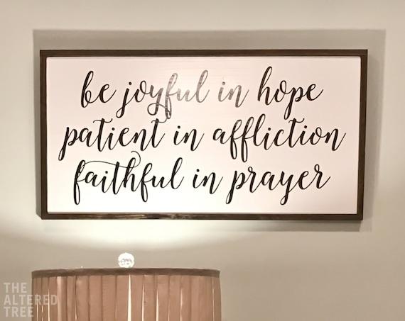 Romans 1212 Be Joyful In Hope Framed Christian Gifts