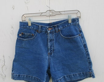 1990s High Waist Denim Shorts, HIgh Waisted Jean Shorts 80s 1980s 1990s Vintage Denim Shorts, Mom Jeans 29 Waist