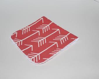 Minky Burp Cloth Arrows Print
