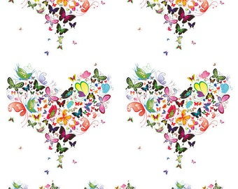 Hearts of Flowers  - Ceramic Decals- Enamel Decal - Fusible Decal - Glass Fusing Decal ~ Waterslide Decal - 10800