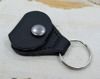 Leather Guitar Pick Case l Golf Ball Marker | Guitar Pick Holder | Guitar Pick Leather Keychain Case