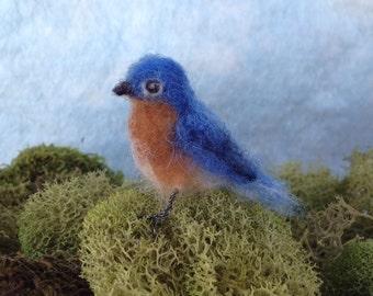 Needlefelt Bluebird Tiny Standing
