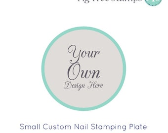 Personalised Nail Art Stamp Plates, Custom Engraved Nail Stamping Plates, Design Your Own