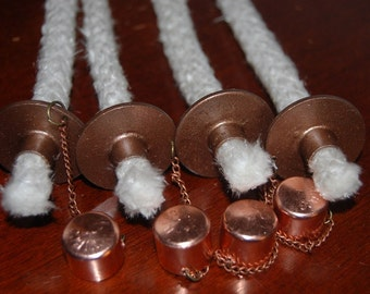 Four Copper Wick Holders
