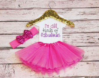 Baby Girls Clothes, I'm Fabulous Bodysuit, New Baby Gift, Baby Shower Gift, baby bodysuit, baby girl gift,