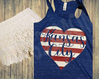 Kansas City Heart Tank/T-Shirt