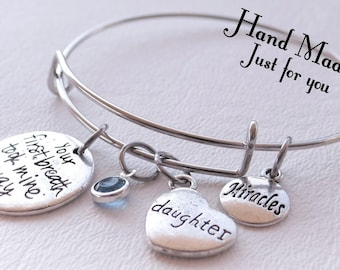 Your First Breathe took mine away, Baby Bracelet, New Baby, Bracelet, miracle baby, miracles
