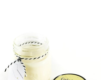 Calabasas || Scented Soy Candle || California || Lemongrass || Black Currant || Patchouli || Handmade || Handpoured || Mason Jar