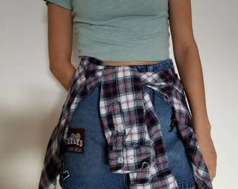 Plaid button up flannel // size: XS