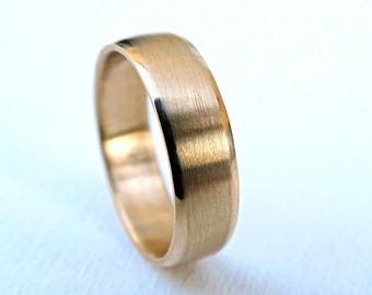 mens wedding ring gold, modern gold ring domed, rose gold wedding band, mens ring solid gold wedding ring, gold mens band white gold