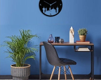2018 Eid Gifts, Ramadan Kareem Eid Metal Laser Cut Wall Clock | Perfect Gift for This Ramadan and eid for Your Loved Once -||
