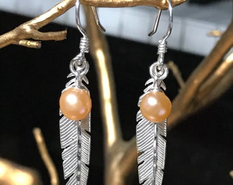 Sterling Silver Feathered Earrings