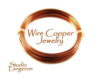 Copper jewelry wire Half-Hard thickness 30, 28, 26, 24, 22, 20, 18, 16, 15, 13, 12 GA, Wire Wrapping,Copper wire, Copper – 1 meter (3.30 ft)