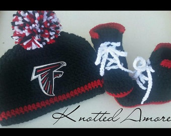 Custom crochet football set, crochet sport hat, crochet boots