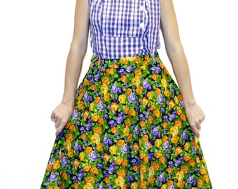 Vintage style skirt 50 year old fabric
