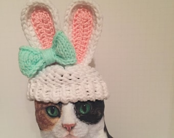 SomeBUNNY loves you! Small hat for doll or pet (cat or small dog) MADE to ORDER