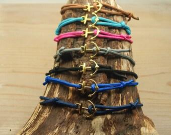 DIY kit bracelets ancre dorée X7