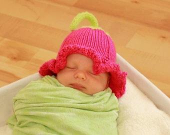 flower petal kids hat infant costume, children's photo props for baby girl