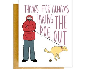 Funny Thank You Card, Funny Greeting Card, Thank You Card, Greeting Card, Card for Him, Funny Card, Love Card, Valentine Card