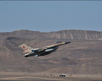 Poster, Many Sizes Available; Israeli Air Force F-16C Barak 117Th Squadron