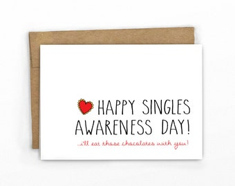 Funny Valentines Day Card | Love Card | Singles Awareness by Cypress Card Co. | SKU 169