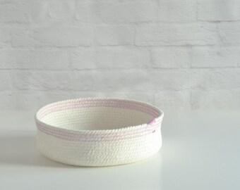 Cotton rope bowl, Summer decor, Bathroom basket, Nursery basket, Housewarming gift, Anniversary cotton, Key bowl, Natural decor Gift for her