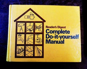 Home repair book etsy 1973 readers digest complete do it yourself manual hard cover 600 pages solutioingenieria Gallery