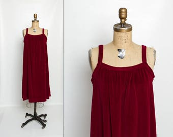 vintage 80s maternity dress | velour maroon jumper