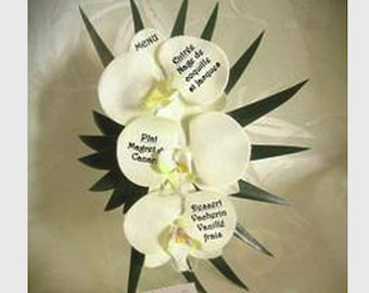Menu exotic orchids choice to customize