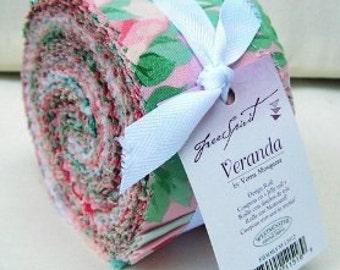 Veranda Verna Mosquera Collection Design Roll Jelly Roll Pre Cut Fabric Strips Ruffle Joy Skirt