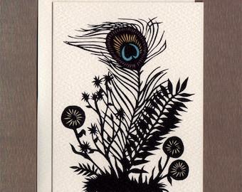 Peacock Flower - Notecard