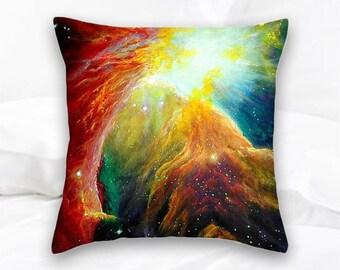 Orion Nebula Throw Pillow | Geek Decor | Nerd Decor | Geek Gift | Orion Constellation | Galaxy Pillow | Space Pillow | Nebula Decor | Stars