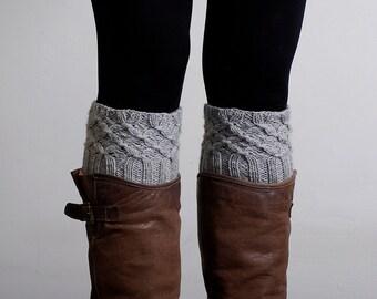 Knitted Boot Cuffs, Leg Warmers,  Boot socks, Cable Boot cuffs, Winter accessory, knit leg warmers