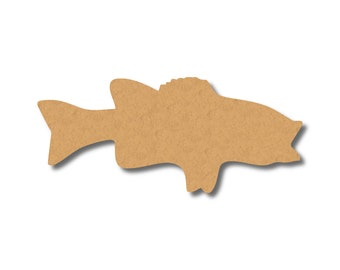 Big Mouth Bass Fish Craft Wood Shape, Great Shapes for Party, School, Fun DIY Projects, Item 1321222