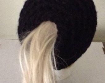 ALPACA MESSY BUN Hat  Hair Wrap Men  women boy girl