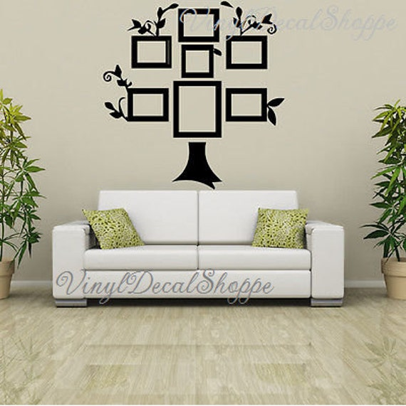 Large Family Tree Wall Decal Family Tree Picture Frame Tree