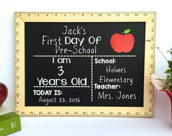 First Day of School Chalkboard, First Day of Preschool Sign, First Day of Kindergarten Sign, Back to School, First Day Chalkboard, Preschool