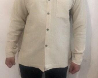 Hanf-Shirt mit vollen Ärmeln