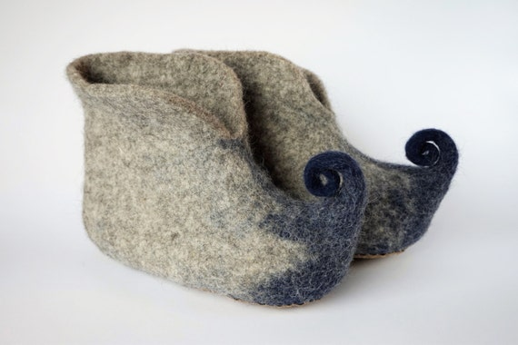shoes shoes Organic house Men shoes booties Blue women grey Elf slippers slippers slippers Fairy wool felt wool Felted Felted wool WwBvHR