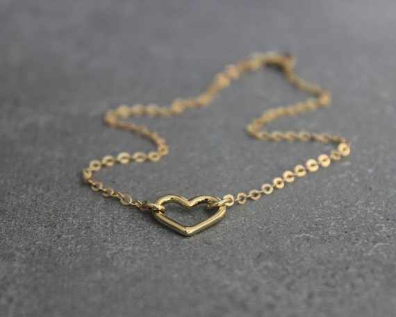 minimal bead pin anklet filled dainty gold