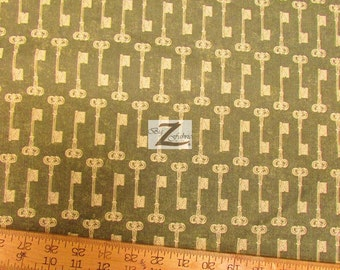 "Grandmas House Keys By Riley Blake 100% Cotton Fabric - 45"" Width Sold By The Yard (FH-925)"