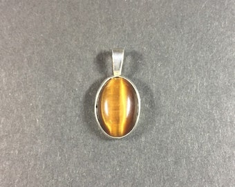 Tiger Eye Necklace in Sterling Silver 16053