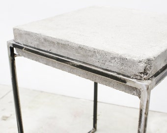 Poured Concrete Night Stand